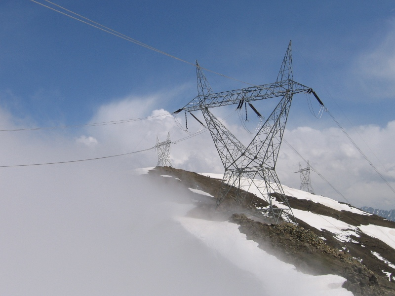 transmission line in mountain